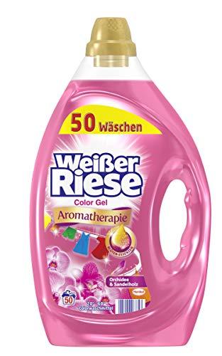 Weißer Riese Color Gel, Aromatherapie Orchidee & Sandelholz, Flüssigwaschmittel, 200 (4 x 50) Waschladungen, Riesen Duft Erlebnis