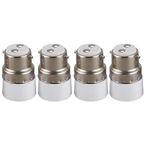 Huante 4pcs AC 220V B22 a E14 Support d'adaptateur de l'ampoule de base