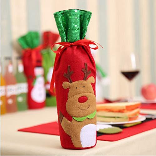 tytlsd Cubierta De Polvo De Botella De Vino De Papá Noel, Bolsas De Regalo De Suministros De Fiesta De Navidad, Adornos De Mesa para La Cena En Casa Accesorio De Decoración De Mesa C