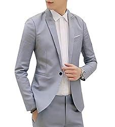 Vinyst Mens Casual Loose Lapel Various Colors Formal Blazer Sport Coat