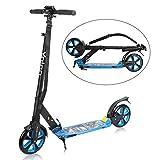 YOLEO Scooter für Erwachsene Roller Kickscooter Tretroller Cityroller für Kinder ab 10 Jahre 200mm Rad Klappbar und Höhenverstellbar mit Tragegurt (Blau)