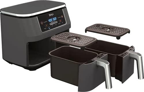 Ninja DZ201 Foodi 6-in-1 2-Basket Air Fryer with DualZone Technology, 8-Quart Capacity, and a Dark Grey Stainless Finish