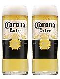 Corona Lot de 2 verres à pinte extra originaux 20 oz