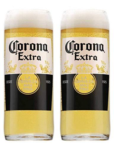 2 bicchieri da birra Corona extra in vetro originale, 20 oz