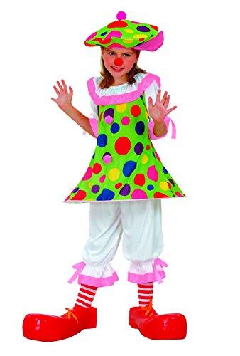 Fiori Paolo Clown Monella Costume per Bambini, Multicolore, 5-7 anni, 61114.M