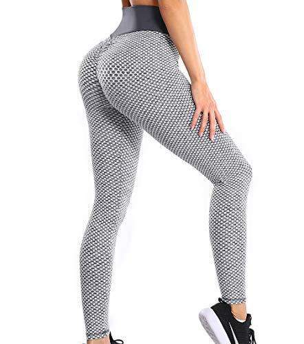 KIWI RATA Pantaloni Sportivi Donna Leggings Anticellulite Vita Alta Leggins Yoga Push Up Pants Fitness Elastico Opaco Resistenti Abbigliamento per Palestra Allenamento Jogging