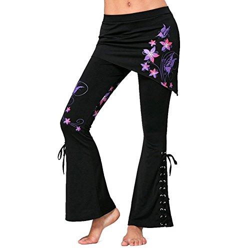 Pantalones Damas Pantalones Jeggings Góticos Pantalones Pantalones Minifaldas De Cintura Moda Completi Alta Vintage Leggings Negros Vendaje Faldas Asimétricas Pantalón De Bengala