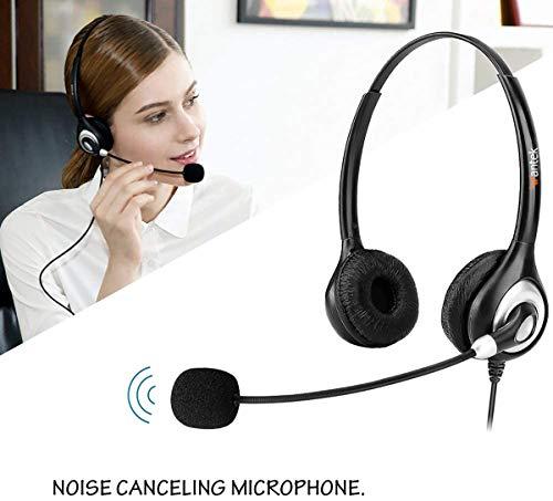 Wantek USB Headset Stereo mit Noise Cancelling Mikrofon und Lautstärkeregler, PC Kopfhörer für Business Skype UC SoftPhone Call Center, Kristallklarem Chat, Superleicht, Ultra Komfort(UC602)