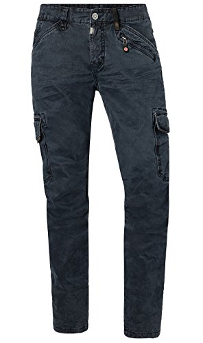 Timezone Herren Cargo Hose 26-10011 Ben Slim Dark Night Blue 40/32
