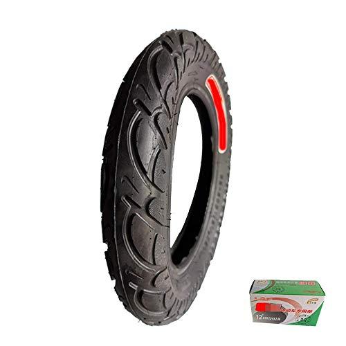 HZWDD Neumáticos Interiores y Exteriores Antideslizantes de 12 Pulgadas 62-203 (12 1/2x2 1/4), Fuertes y Resistentes al Desgaste, adecuados para neumáticos Seguros y cómodos para Scooters