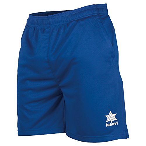 Luanvi Walk Bermudas de Tenis, Hombre, Azul Royal, M