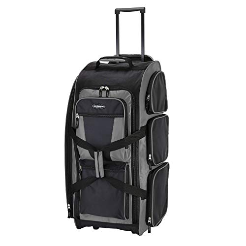 Travelers Club 30' Xpedition Upright Rolling Travel Duffel Bag, Charcoal Grey, Large