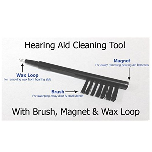 1PC Brand New Multi-function Hearing Aid Cleaning Brush Tool Kit with Wax Loop & Battery Magnet