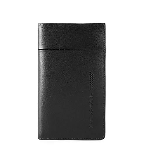 PIQUADRO AC4820UB00R kleur zwart etui en portemonnee