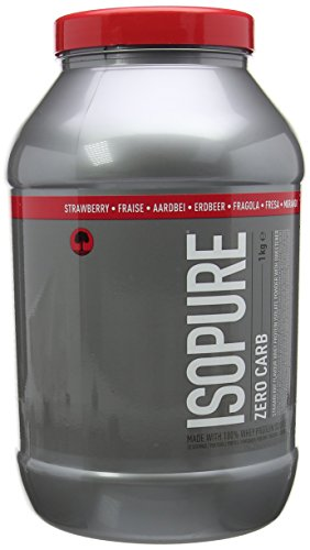 Isopure Zero Carb Whey Protein Isolate with BCAA's, Low Lactose Protein Protien Powder by Isopure - Strawberry, 33 Servings, 1 kg