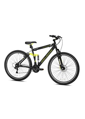 Genesis 29' Incline Men's Mountain Bike, Black/Yellow