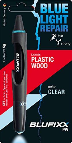 ブルーフィックス(Blufixx) 液体プラスチック、補修材 接着剤 溶接 紫外線ライト Blufixx-LED-PW(プラスチック 木材) 透明色 本体: 奥行2cm 本体: 高さ16cm 本体: 幅2.5cm