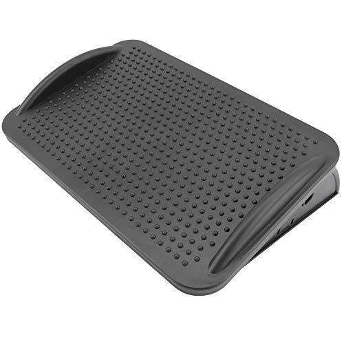 PrimeMatik - Reposapiés con Plataforma Ajustable de plástico Negro 424 x 283 mm