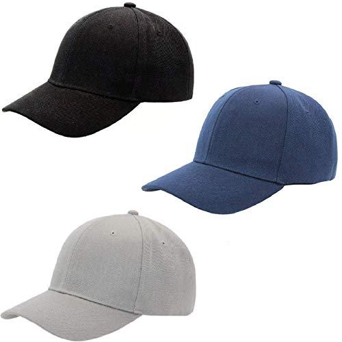 JNFOSEG 3 Pack Baseball Dad Cap Adjustable Size Perfect for Running Workouts and Outdoor Activities
