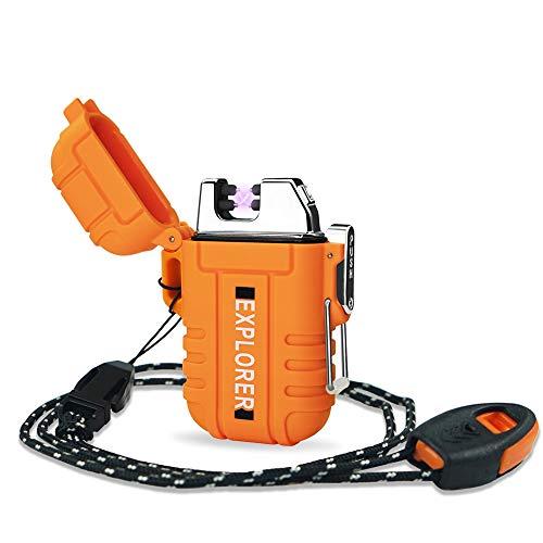 Lafagiet USB wiederaufladbares Feuerzeug, wasserdicht, Dual Arc Feuerzeuge für Camping, Wandern, Outdoor Survival Kits