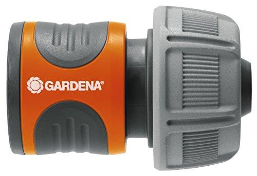 """Gardena 18216-20 Conector para el Inicio de la Manguera, hermético, Mango ranurado, Montaje Sencillo, Gris, Naranja, 19 mm (3/4"""")"""