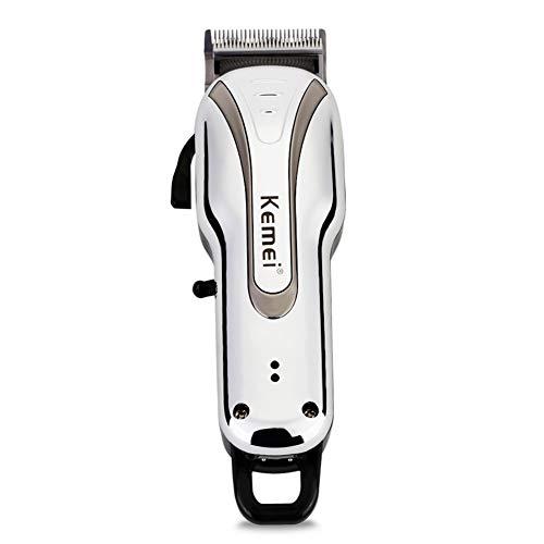 Leistungsstarker elektrischer wiederaufladbarer Haarschneider Geräuscharmer Haarschneider mit 3/6/10 / 13mm begrenztem Kamm für drahtgebundenen oder drahtlosen Gebrauch
