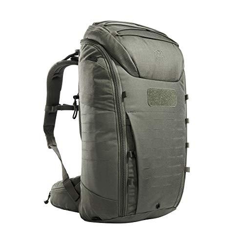 Tasmanian Tiger TT Modular Pack 30 Daypack Militär Rucksack mit 30 Liter Volumen inkl. Organizer Zusatz-Taschen Set für mehr Ordnung, Steingrau-Oliv IRR
