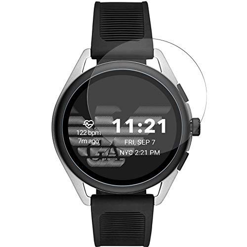 Vaxson TPU Pellicola Protettiva, compatibile con Armani Smartwatch 3 44mm Smartwatch Hybrid Watch, Screen Protector Pacco da 3 [ Non Vetro Temperato ]