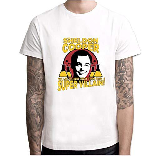 Camiseta de manga corta con cuello redondo y elástico transpirable para verano, diseño de drama de los Estados Unidos The Big Bang Psm19312 XXL