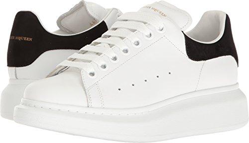 Alexander McQueen Women's Lace-Up Sneaker White/Black 36 M EU