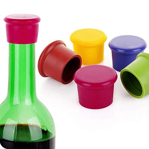 Heng siliconen wijnstop lekvrije wijnflesdop verse houdbare sealers bierdrank champagne sluitingen bar accessoires, 1 stuks willekeurig