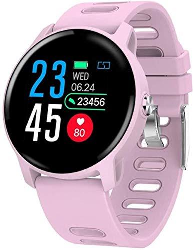 JSL Reloj inteligente 1.3 con pantalla táctil IP68, resistente al agua, con GPS, monitor de sueño, podómetro, contador de calorías, para iOS y Android, Bluetooth, para niños, hombres, mujeres, rosa