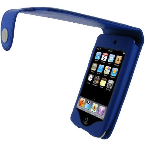 igadgitz Touch2BlueLeather Funda tipo libro y Protector de Pantalla Compatible con iPod Touch 2ª y 3ª generación - Azul