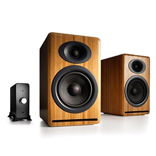 Review Of Audioengine P4 Passive Bookshelf Speakers and N22 Audio Amplifier Desktop Audio Speaker Sy...