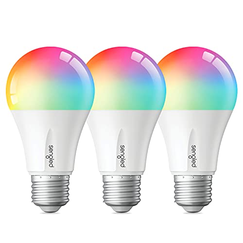 Sengled Zigbee Smart Light Bulbs, Smart Hub Required, Works with SmartThings and Echo with Built-in Hub, Voice Control with Alexa and Google Home, Color Changing 60W Eqv. A19 Alexa Light Bulb, 3 Pack