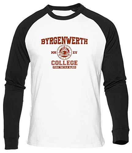 Byrgenwerth College Baseball T-Shirt Herren Damen Unisex Weiß Bio Baumwolle Men's Women's White