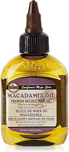 Difeel Aceite Natural De Macadamia para el cabello - 75 ml