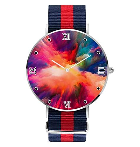 Reloj de pulsera colorido diseño personalizado relojes para mujeres hombres unisex acero inoxidable relojes caso negocios casual analógico reloj de cuarzo