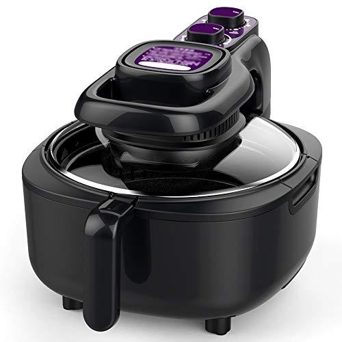 Air Fryer Hogar 5L litros Visible Vidrio Grande Capacidad Sin Humo Aceitoso Inteligente Automático