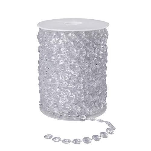 Cuentas de Cristal Guirnalda 30 Metros Perlas de Garland Cristal Acrílico Diamante...