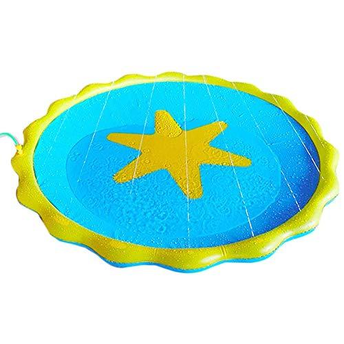 Transbeds Estrella de Mar Inflable Sprinklers Splash Water Play Mat para Niños al Aire Libre Regadera Great Summer Fun 60inch Inflables