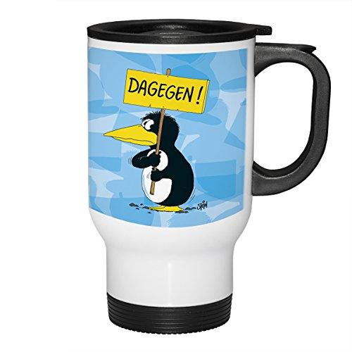 Uli Stein Thermobecher - Dagegen Pinguin Becher