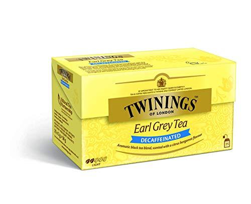 Twinings Earl grey - Té descafeinado, 25 Bolsas