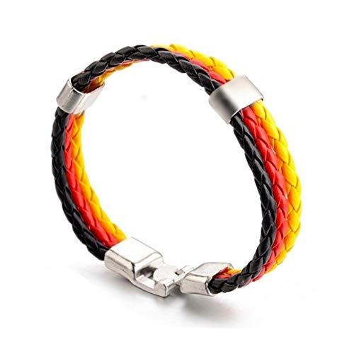Pulsera de la Copa Mundial temático Banderas Nacionales de punto estilo pulsera brazaletes de la manera exquisita de cuero trenzado de los ventiladores del fútbol (Alemania) regalos para la familia