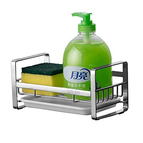 Kitchen Sponge Holder - Kitchen Sink Organizer - Sink Caddy - Sink Tray - Soap Holder - SUS304 Stainless Steel,Silver