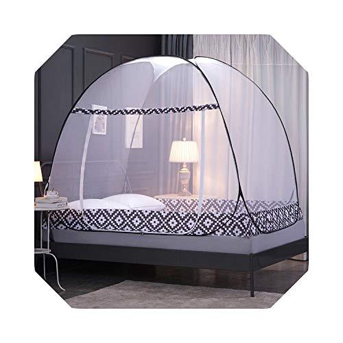 Eileen Ford Mongolian Yurt Moskitonetz Eintüriges All Bottom Bettnetz Single Double People Moskitonetz Klappbett Netze Für Reisen Camping-Barock-1,8m 200x180x170cm