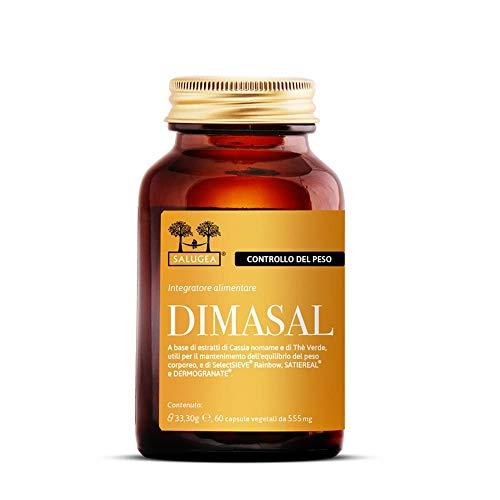 Dimasal Salugea - Integratore 100% naturale per il Controllo del Peso con tre brevetti registrati clinicamente testati - 60 capsule vegetali apribili (1 mese)