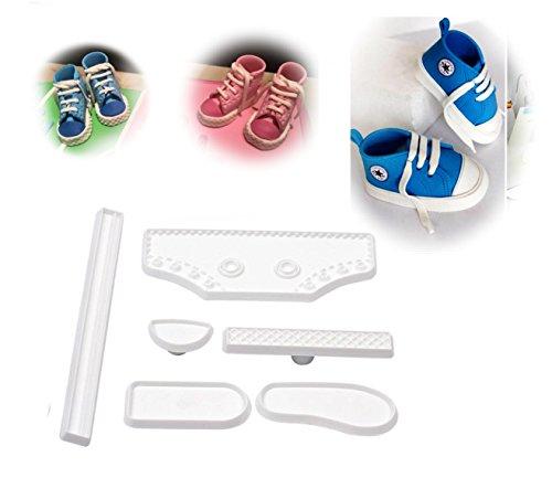 Kuchen-Formen, hohe Baby-Sneaker, Schuh-Fondant für Kuchen