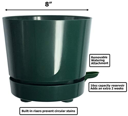 HBServices USA Self-Watering Round Planter Pot