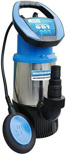 Güde 381057 94246 Drucktauchpumpe GDT 901, 230 V, Schwarz, Blau, Edelstahl